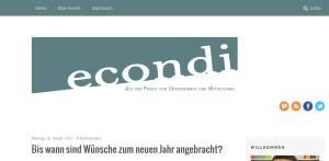 Das econdi Blog in neuem Design